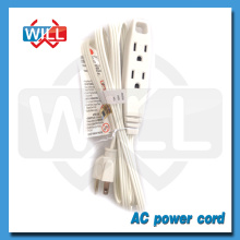 High quality US standard ul ac power cord with 3 outlet